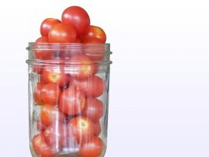 paradajky v pohári