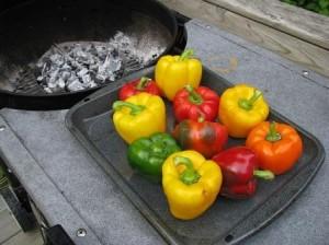 paprika sa môže upiecť aj vonku na grile