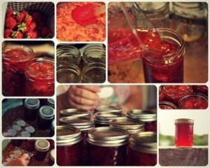 príprava džemu - jahody